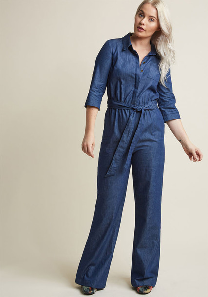 Modcloth jumpsuit neutral