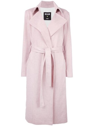 coat women cotton purple pink