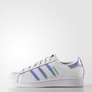 020ff4796ce9 ADIDAS ORIGINALS SUPERSTAR AQ6278 Classic White Hologram ...