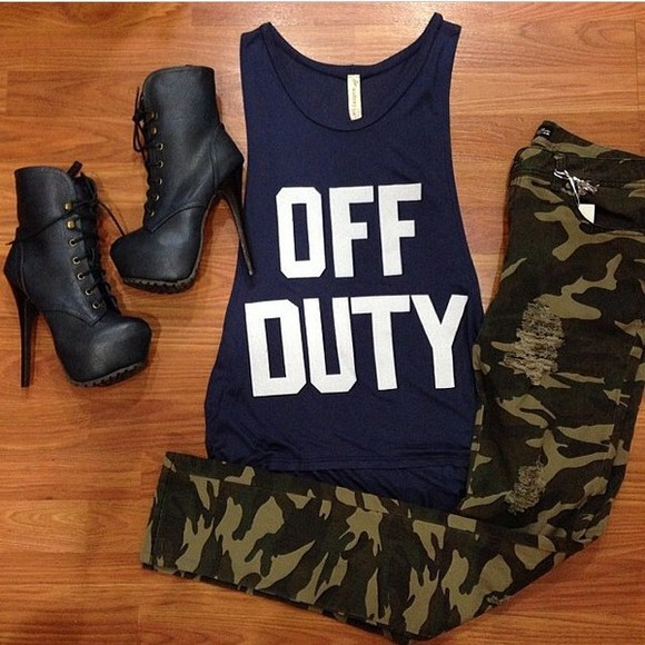 tank top black tank top shoes jeans shirt ?