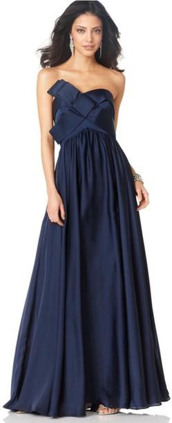Dress Macys Navy Blue Gown Wheretoget