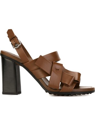 bow women sandals leather brown shoes