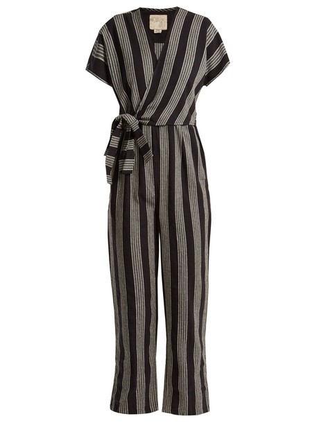 Ace & Jig jumpsuit cotton white black