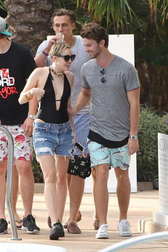 swimwear one piece swimsuit black summer outfits miley cyrus shoes