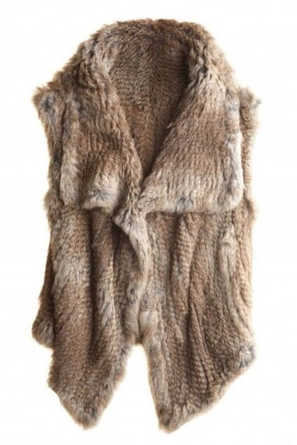 coat faux fur faux fur vest