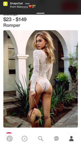top bodysuit animal print lace white long sleeves pretty style fashion vibe