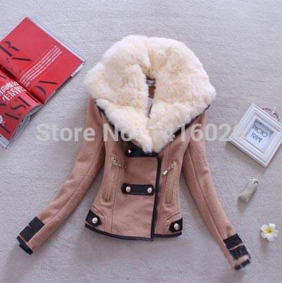 Winter jacket women real zipper standard full solid no pockets free shipping 2014 autumn winter new fashion women's slim jacke