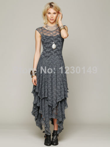 2014 Sexy Vintage Party Evening Casual Prom Elegant Maxi Slim Long Sheer Lace Dress | Amazing Shoes UK