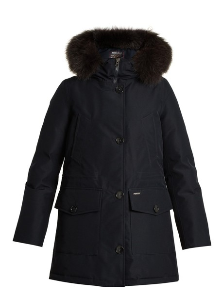 WOOLRICH JOHN RICH & BROS. parka fur navy coat