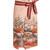 Numerosa Japanese-print cotton pencil skirt