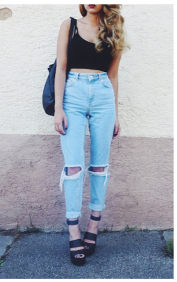 High Waisted Boyfriend Jeans - Shop for High Waisted Boyfriend ...