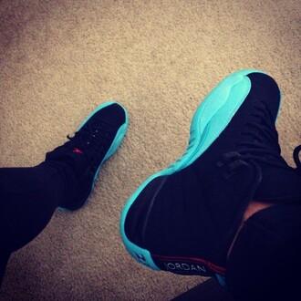 shoes karrauche tran jordans cutest ever blue black white need. want. girl sneakers cheap jordan shoes