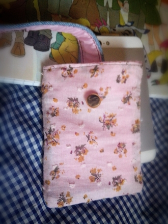 bag floral bag denim jeans shorts pink bang blue bag handmade smartphone iphone cover purse/iphone case iphone 5 case