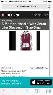 jacket,maroon with aztec sleves