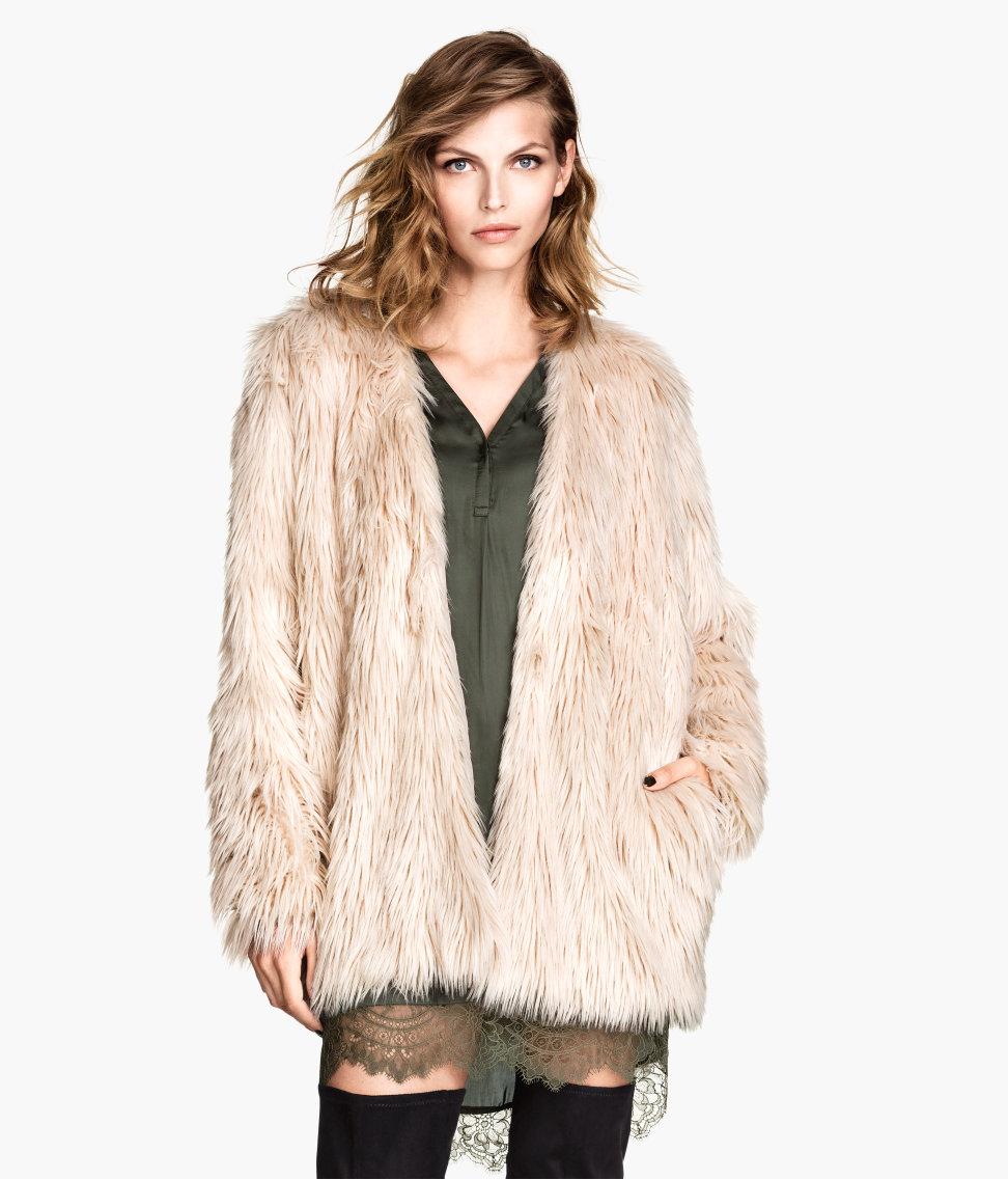 H&M Faux Fur Jacket $59.95