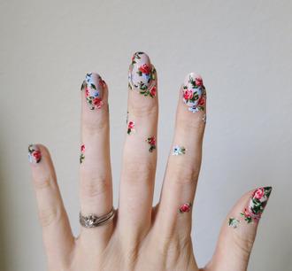 nail polish tumblr nail accessories nails nail art floral ring accessories accessory love maegan blogger swimwear dress