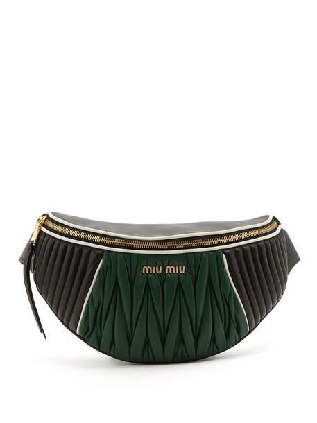 Miu Miu belt bag bag leather black green