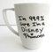 99.9% sure i'm a disney princess inspired coffee mug