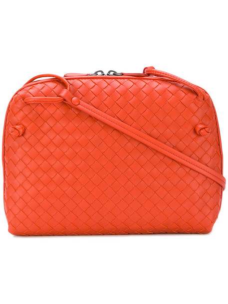 Bottega Veneta women handbag leather yellow orange bag