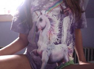 t-shirt unicorn violet violet tshirt magic pale atropina grunge unicorn shirt rainbow violett pale grunge selfie photos