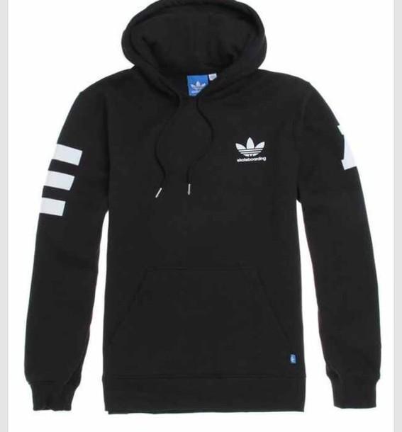 sweater black addias sweater