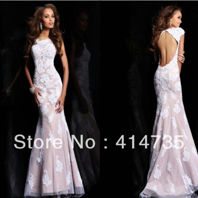 Dress white dress prom dress prom open back dresses shoes for Skin tight wedding dresses
