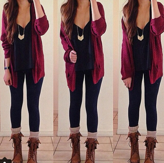 sweater necklace top blouse jeans socks boots shoes cute beautiful autumn fasion outfit winter outfits