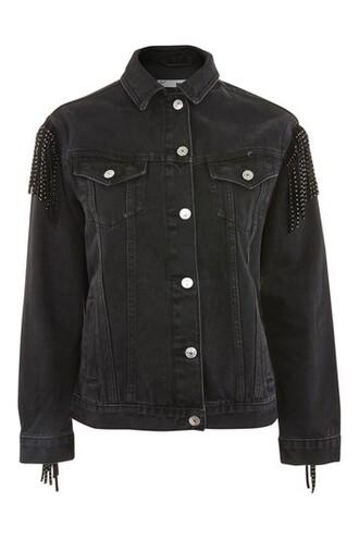 jacket denim jacket denim black
