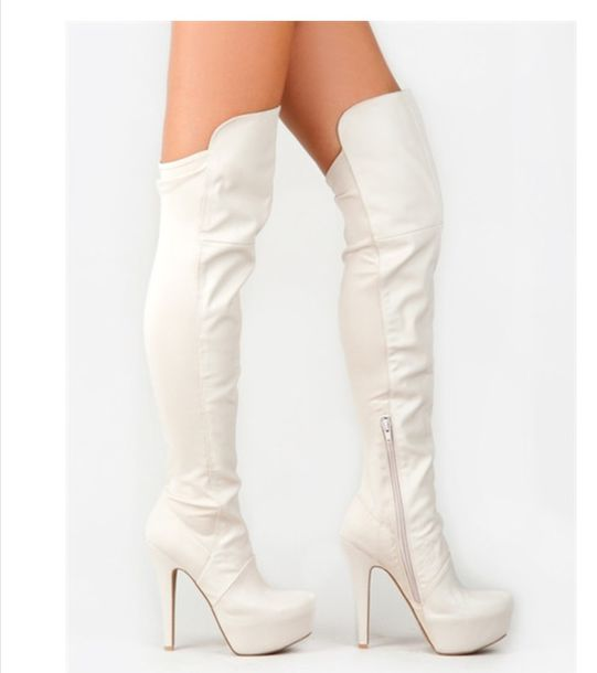 shoes white boots grande patent leather high