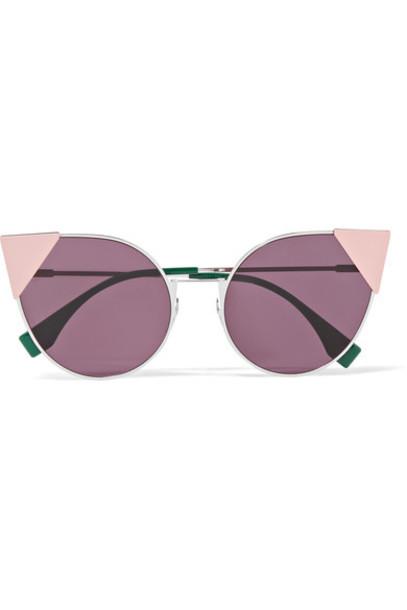 Fendi embellished sunglasses pink