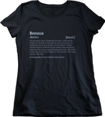 Amazon.com: BEYONCE IS AN AWESOME CHICK T-shirt for Cool Girls Named Beyonce Ladies' T-shirt: Clothing