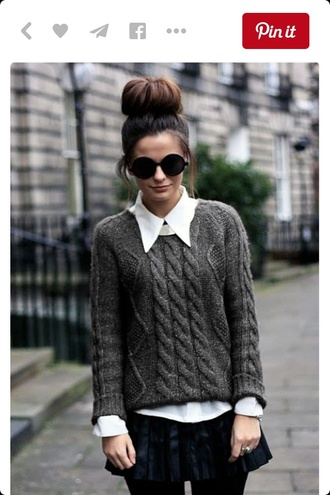 sweater grey sweater tumblr outfit