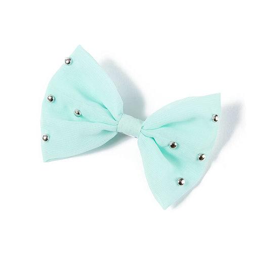 Studded bow hair clip