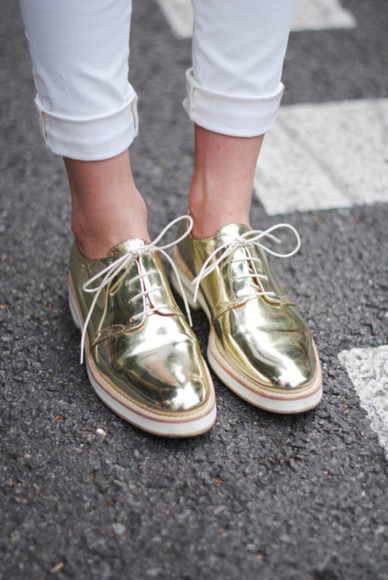 shoes shiny shoes gold