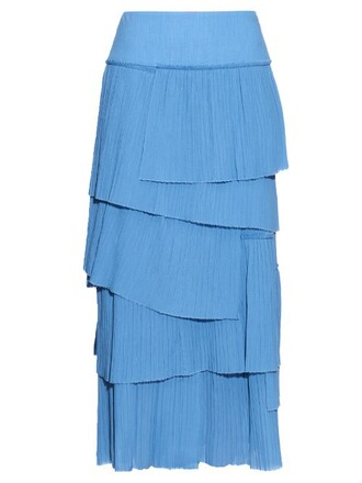 skirt pleated cotton light blue light blue