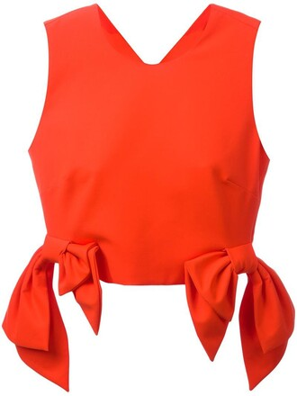 top cropped women spandex cotton yellow orange