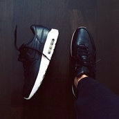 shoes,leather,matte,black,shiny,nike,nike air max 1,nike shoes,trainers,white,sneakers