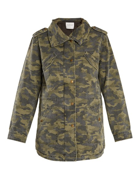 VELVET BY GRAHAM & SPENCER jacket camouflage print green