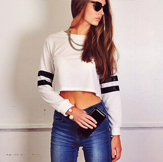 top jersey white jersey sports style sports luxe sports top stripes stripe top