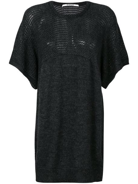 Chalayan t-shirt shirt t-shirt women mohair wool grey top