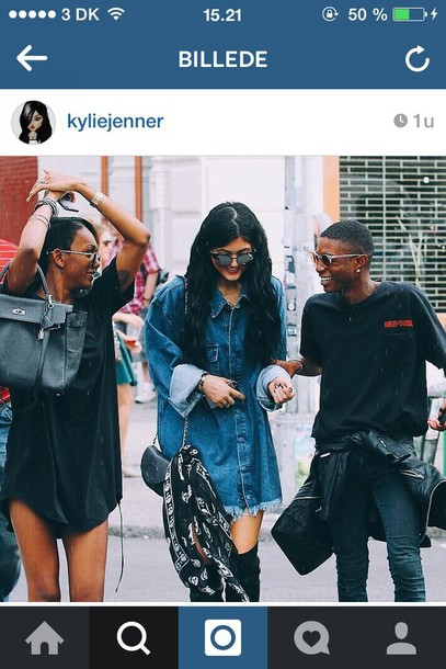 blouse denim style denim jacket kylie jenner