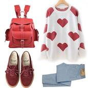 shoes,red,dark red,english army style,vans,vintage,sweater,bag,jeans,leather backpack