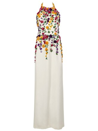 gown embellished white dress