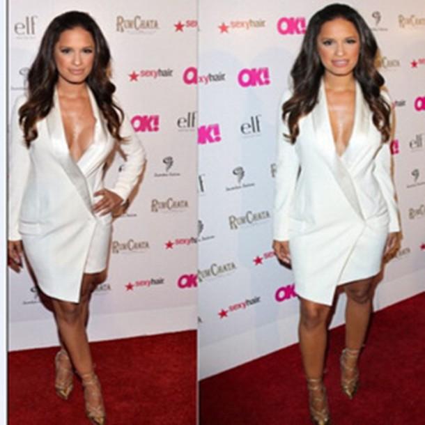 White Suit Dress Dress Yy