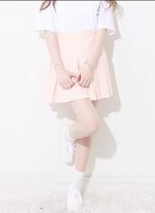 skirt,pastel,pastel goth,pastel pink,shoes