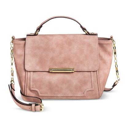 Women's Crossbody Satchel Handbag - Pink