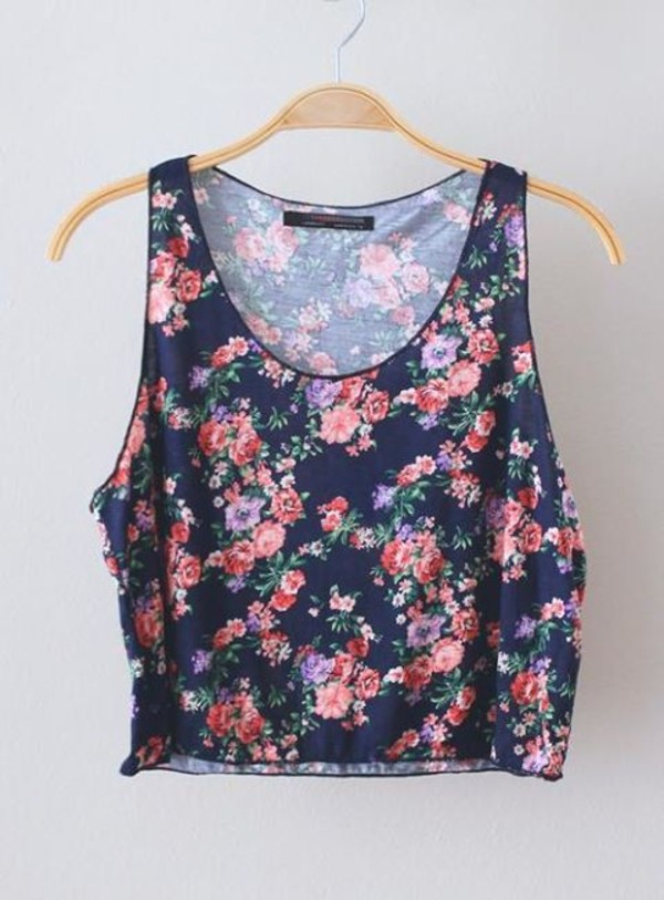 blouse flowers floral colorful
