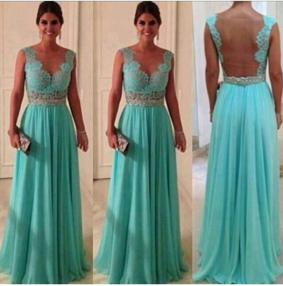 dress gown wedding dress elegant ball gown mint lace germany bridesmaid turquoise chiffon