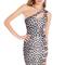 Leopardprint cut out dress