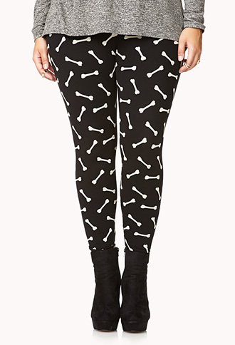 Crazy Bones Leggings | FOREVER 21 - 2040496405